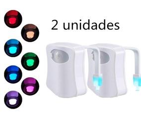 2 Luz Abajur Vaso Sanitario Lightbowl Com Sensor Led 8 Cores
