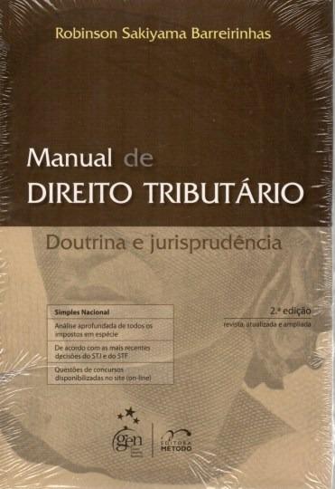 Livro Manual De Direito Tributário Doutrina E Jurisprudência