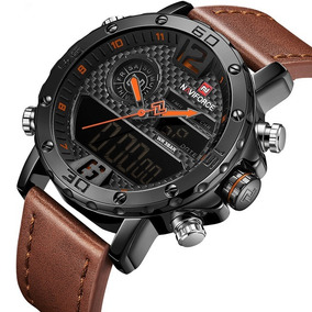 5c89685fc289 Relógio Masculino Naviforce Esportivo Militar Pulseira Couro