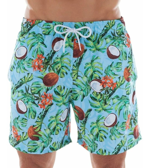 Shorts Beachwear Estampado Côco Mash Ref: 61328