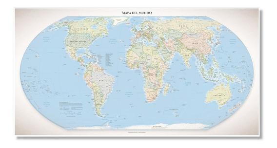 Mapamundi Planisferio Político 116cmx61cm