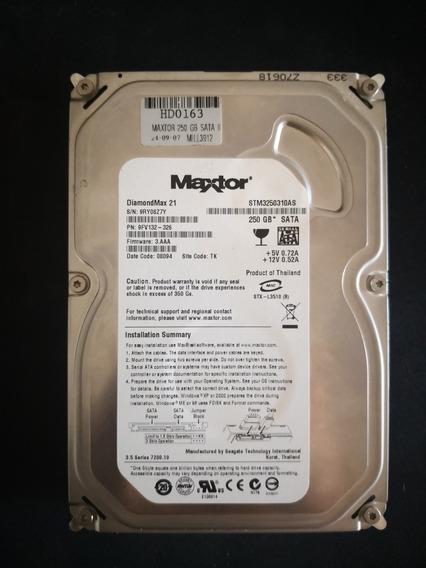 Disco Duro Maxtor 250gb 7200rpm Buen Estado