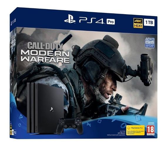 Console Playstation 4 Ps4 Pro Call Of Duty Modern Warfare