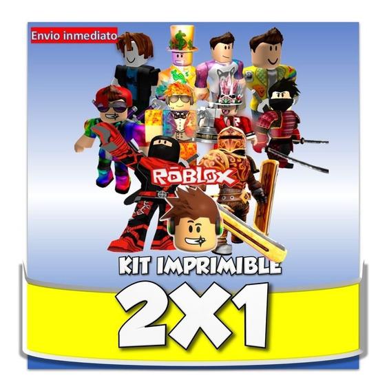 Kit Imprimible Roblox 100% Editable 2x1 Cumpleaños Fiestas