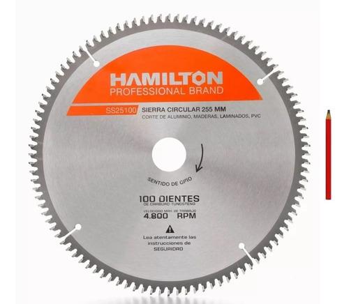 Imagen 1 de 8 de Hoja Sierra Ingletadora Hamilton 254mm 10p 100d + Regalo