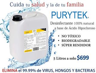 Desinfectante Y Esterilizador Purytek Concentrado 5lt
