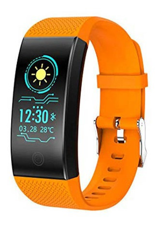 Smartband Smartwatch Com Frequência Cardiaca Laranja