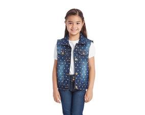 Chaleco Girls Attitude Azul Pr-4732272