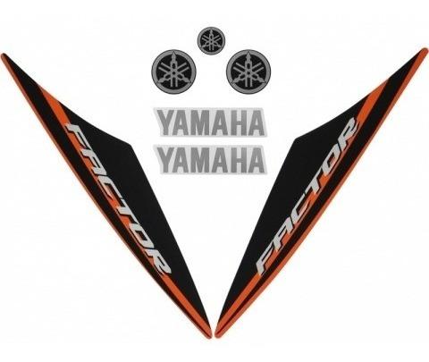 Kit De Adesivos Ybr 125 Factor 15/16 Moto Cor Laranja - 208