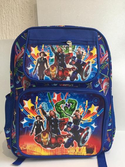 Mochila Bolsa Infantil Vingadores Marvel Escola Colegio