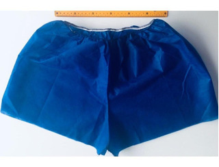 Short Descartável Tnt Azul Marinho 30g Pct 10 Unids