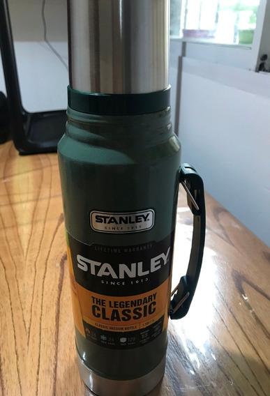 Termo Stanley Clasico Con Manija - 1 Litro - Color Verde