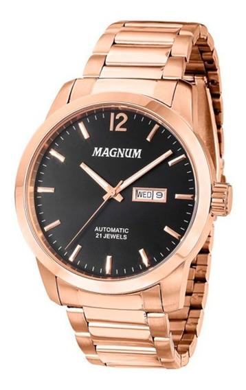 Relógio Magnum Masculino Automático Ma33835p *21jewels