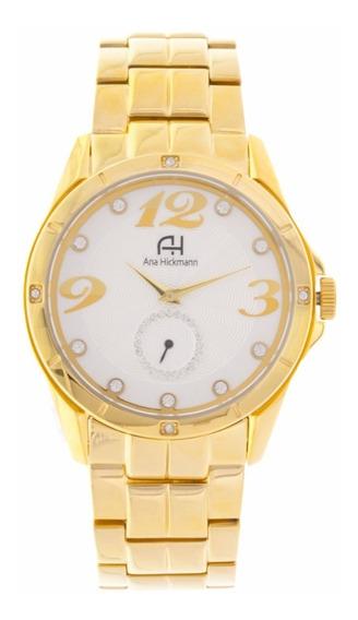 Relógio Analógico Ana Hickmann Ah28599h Dourado
