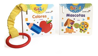** Libros Para Bebe ** Colores Mascotas Con Anillo P Llevar