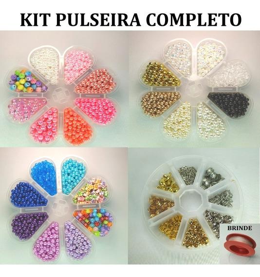 Kit Miçangas Pérolas Para Pulseiras + Pingentes Entremeios