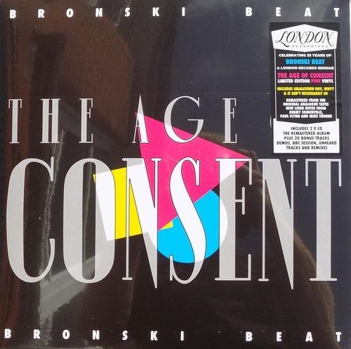 Bronski Beat - The Age Of Consent (vinilo Rosado + 2 Cd)