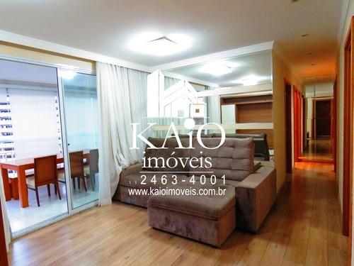 Imagem 1 de 14 de Apartamento Mobiliado 93m² 3 Dormitórios 1 Suite 2 Vagas