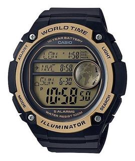 Reloj Casio Iluminator World Time Ae-3000w