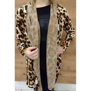 Kimono Anaimal Print Com Capuz - Multicor