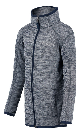Chamarra Fleece Columbia Campismo Wilderness Way Niño Gris