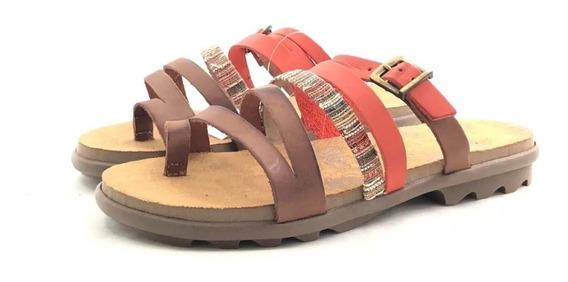 Sandalias Importadas Dama Cuero Chocolate 36502