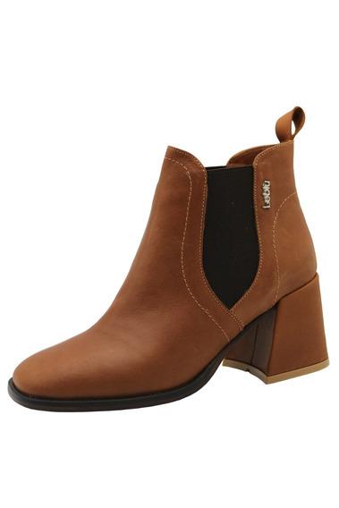 Zapatos Botas Botinetas Mujer Cuero Suela Leblu 853