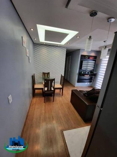 Apartamento Com 3 Dormitórios À Venda, 56 M² Por R$ 290.000,00 - Cocaia - Guarulhos/sp - Ap1373