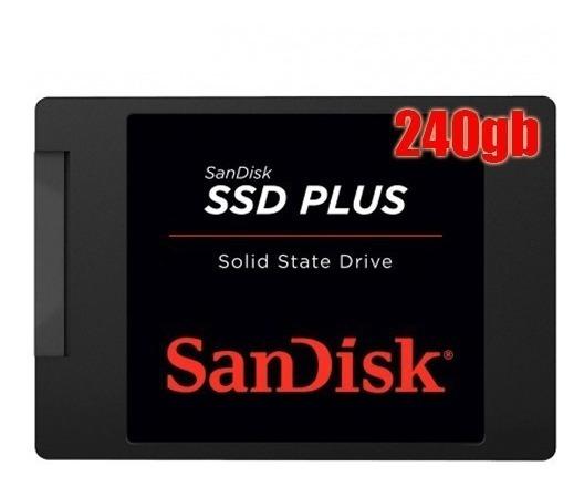 Ssd Memória Sandisk Plus G26 240gb 530-440mb/s 6gb/s