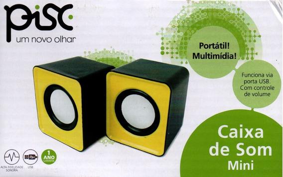 Kit Com 7 Caixa De Som 6 W Mini 1861(amarelo) Pisc Oferta