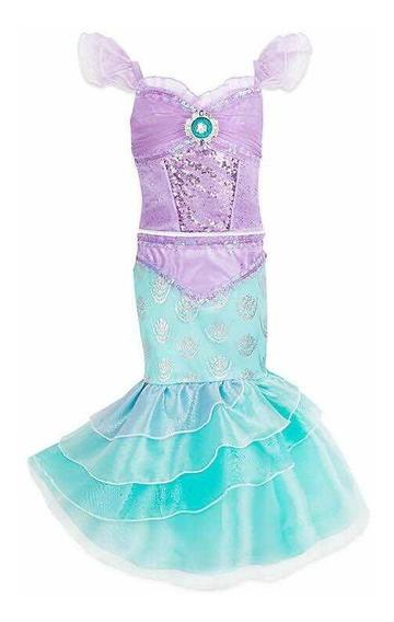 Disfraz Vestido De La Sirenita Ariel Original Disney Store