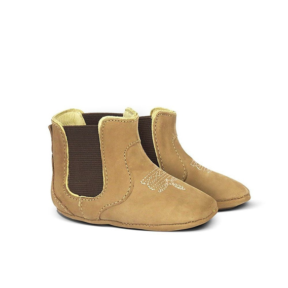 Botina Country Baby Silverado Couro Suede Do 14 Ao 22