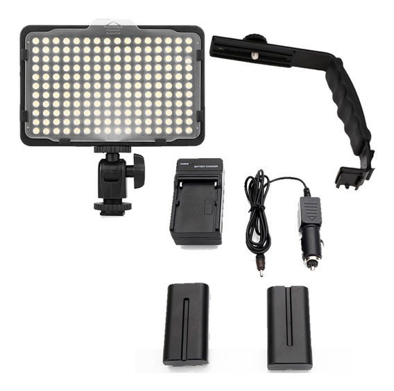 Kit Lampara Video 176 Leds + 2 Pilas+cargador+bracket Gratis