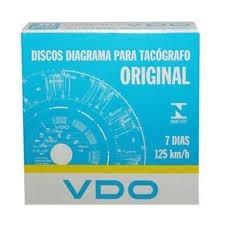 10 Caixas De Disco Tacógrafo Semanal 125km Vdo