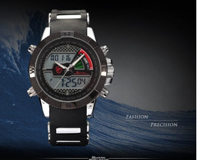 Relógio Shark Sh043 Militar Esportivo Original Para Mergulho