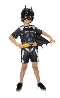Fantasia Super Herói Batman Com Capa E Mascara Infantil