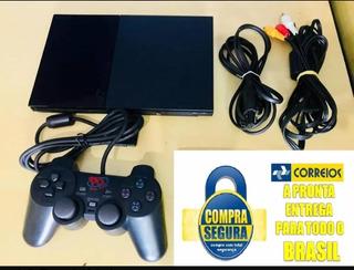 Video Game Ps2 + Hd C/200 Jogos+2 Controle+emulador