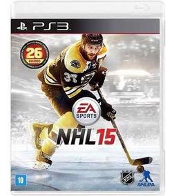 Jogo Nhl 15 - Ps3 Hockey Mídia Física Lacrado Rcr Games