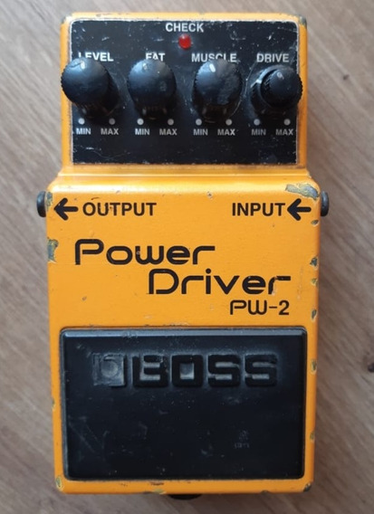 R$300 - Pedal Boss Pw2 Power Driver Overdrive Distortion!