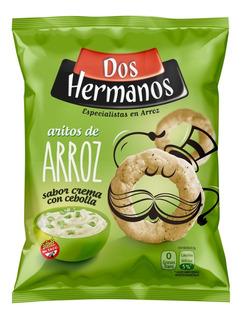 Snack De Arroz Dos Hermanos 10x80gr Sin Tacc(elegí Tu Sabor)