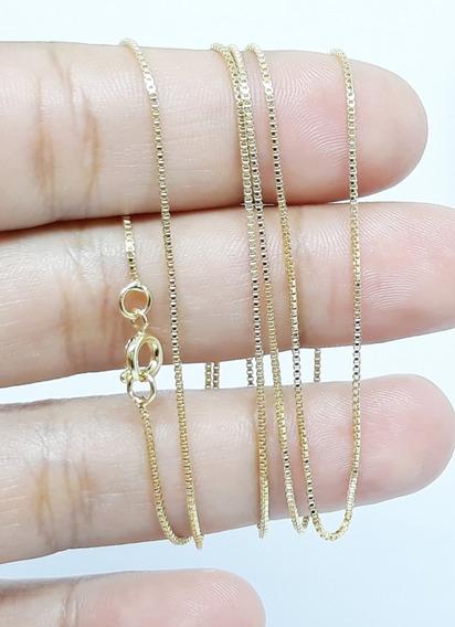 Corrente Colar Cordão Fino Banhada À Ouro 70cm Moda C13