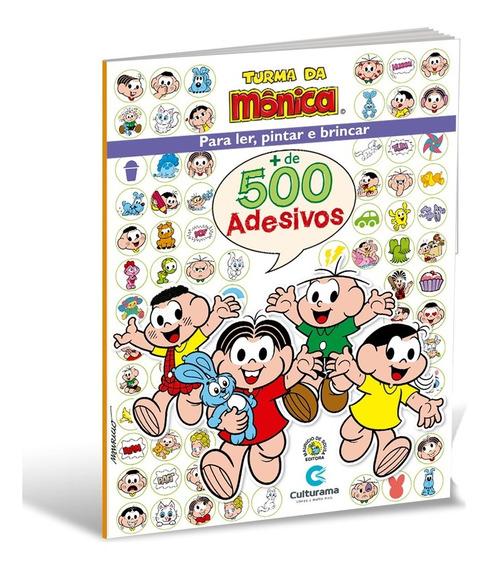 Livro 500 Adesivos Turma Da Monica Culturama