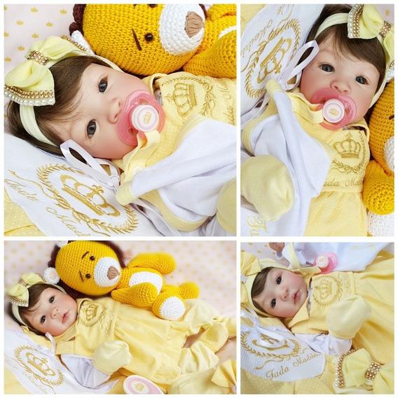Bebe Reborn Menina Silicone Promoçao Princesa Boneca Poa