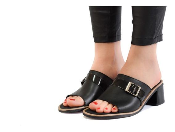 Sandalias Mujer Zuecos Suecos 100% Cuero Vacuno Calidad