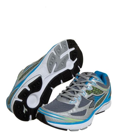 Tênis Masculino Diadora Faster Cinza/azul Running 4928
