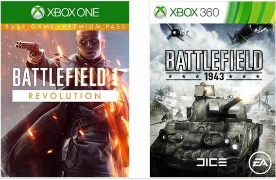 Battlefield 1 Revolution + 1943 Xbox One Cód. 25 Digitos