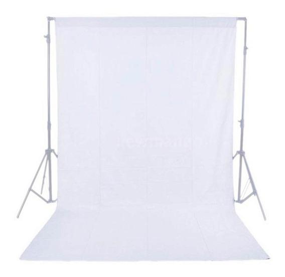 Fondo Fotografico Blanco 1.5 X 3 Mts. Muselina (importado)