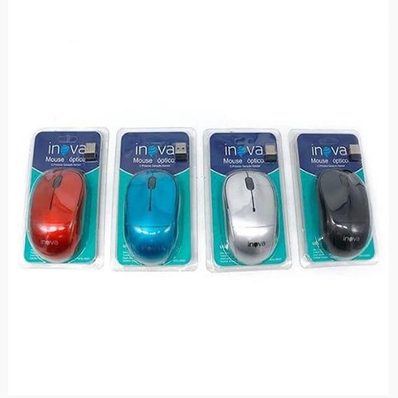 Mouse Optico Inova Sem Fio Design Confortável - 5 Unidades