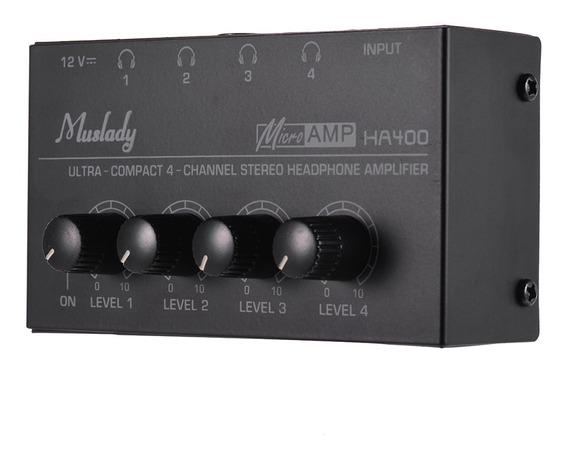 Muslady Ha400 Ultra-compacto 4 Canais Mini Amplificador De