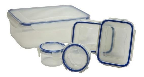 Combo De Envases Plásticos Herméticos De 5 Piezas